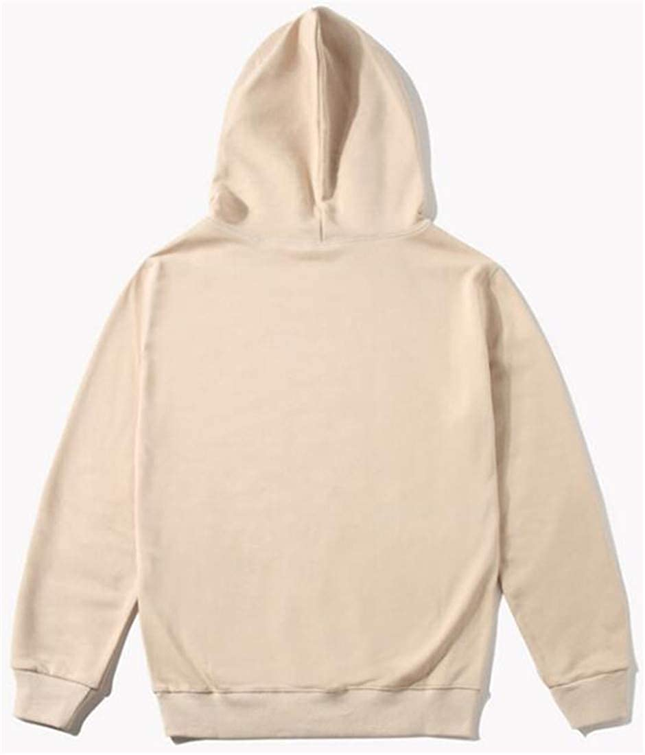 Joe Wenko Mens Pullover Casual Slim Solid Pocket Hoodies Sweatshirts with Drawstring