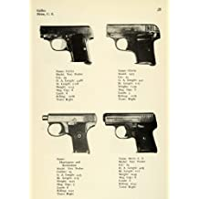 1948 Print 25 Caliber Vest Pocket Pistols Gallus Heim Harrington Richardson Guns - Original Halftone Print