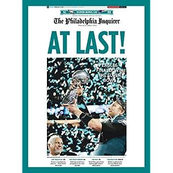 purenet Philadelphia City Eagle Super Bowl on Newspaper on canvas (12X14)