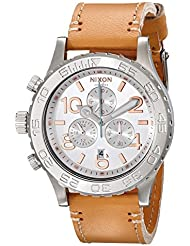 Nixon Womens A4241603 42-20 Chronograph Leather Watch