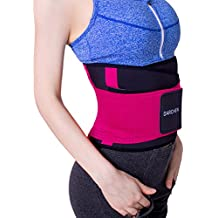 DARCHEN Back Brace Back Pain Relief Lumbar Support Belt Waist Trainer for Women and Men Body Shaper Waist Slimmer Trimmer Cincher with Dual Adjustable Straps