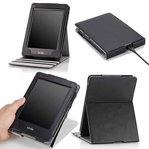 Amazon Kindle Paperwhite Hülle - MoKo Vertikal Flip Schutzhülle Tasche Smart Case Cover für All-New Kindle Paperwhite (Versionen 2012/2013 mit 6.0 Zoll Display und Einbauleuchte),SCHWARZ