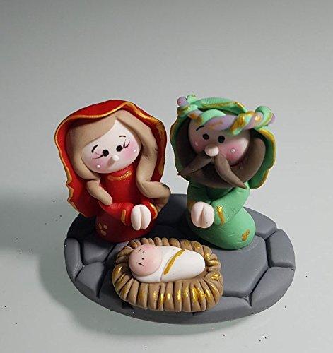 Belen Pesebre Realizado a mano en Porcelana fria Navidad