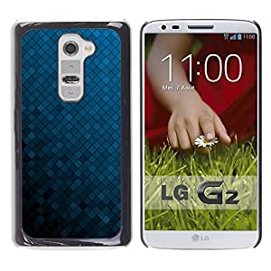 Be Good Phone Accessory // Dura Cáscara cubierta Protectora Caso Carcasa Funda de Protección para LG G2 D800 D802 D802TA D803 VS980 LS980 // Texture Blue Cubes