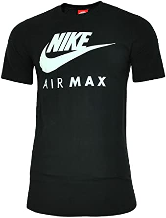 ae2e70b71 MENS BRAND NEW NIKE AIR MAX TSHIRT CREW NECK IN BLACK BLUE WHITE COLOURS S  TO XL: Amazon.co.uk: Clothing