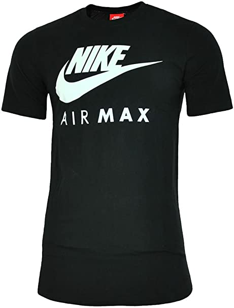 buty do biegania rozmiar 40 uroczy MENS BRAND NEW NIKE AIR MAX TSHIRT CREW NECK IN BLACK BLUE WHITE COLOURS S  TO XL