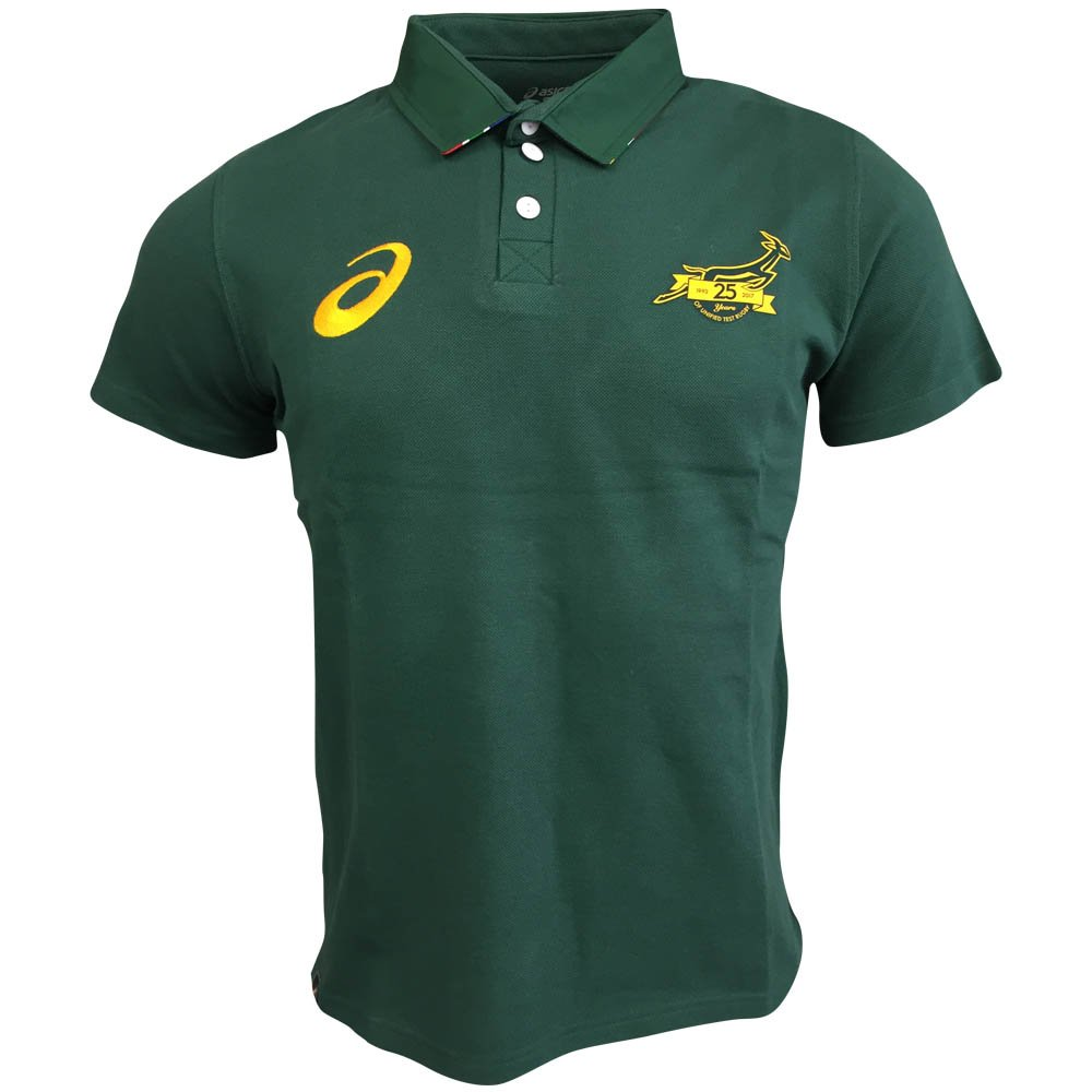 South Africa Springboks Fan Polo 2017 - Bottle Green: Amazon.es ...