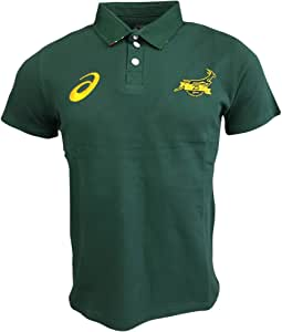 South Africa Springboks Fan Rugby Polo 2017 - Bottle Green: Amazon ...