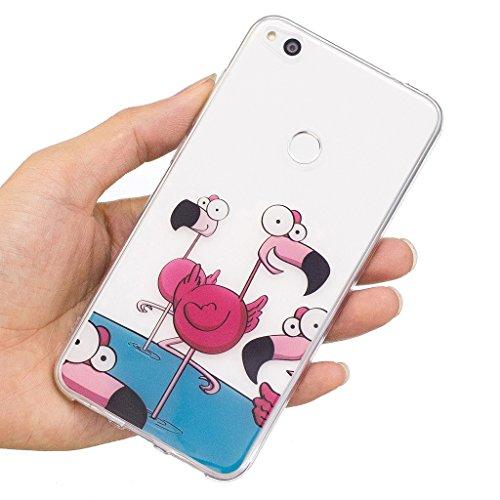 Funda para Huawei P8 Lite 2017 / Honor 8 Lite (No se aplica a Honor 8) , IJIA Transparente Adorable Koala TPU Silicona Suave Cover Tapa Caso Parachoques Carcasa Cubierta para Huawei P8 Lite 2017 / Hon WL7