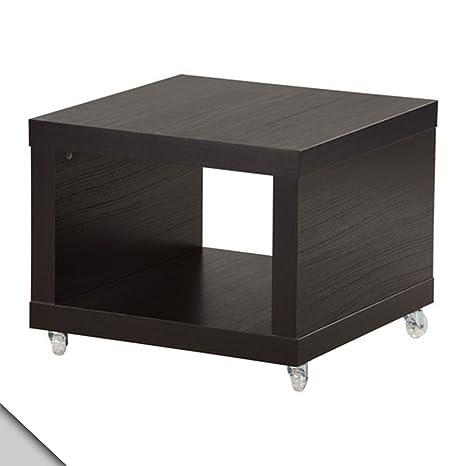 Amazon.com: IKEA – Lack Mesa auxiliar sobre ruedas, café ...