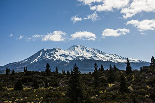 Home Comforts Laminated Poster California Mountain Mt Shasta Northern Landscape Poster Print 24 x 36