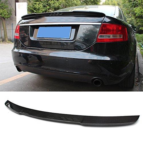Fandixin C6 Spoiler, Carbon Fiber V Style Rear Trunk Deck Lip Boot Spoiler Wing for Audi A6 A6 Quattro C6 2008-2011