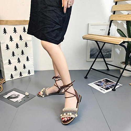 Casual Basses Croix Sandales Romaine Tongs Shoes Mariage Dames Fille Arena Femmes Beautyjourney Beige Plat Mules Sangle Beach Sandales Sandales Sandales n4x6fqtzR