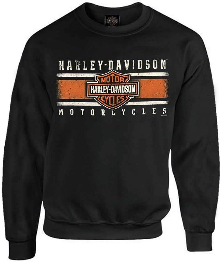 Harley-Davidson Men/'s Rule The Roads Pullover Fleece Sweatshirt Black