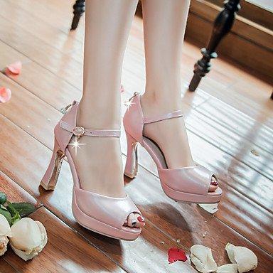 Vestido y LvYuan Mujer Robusto Blanco Fiesta Informal Blue Tacón Noche Rosa Azul Sandalias PU Otro qUqXZ
