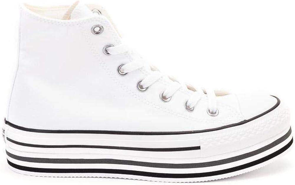 CTAS Platform Layer HI Zapatos Deportivos Mujer Blanco 564486C