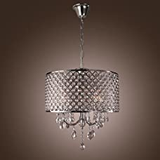 Y&L®60W Traditional Crystal Chrome Metal Chandeliers Flush Mount Pendant Light Fixture For Living Room Bedroom Dining Room Study Room Voltage=110V-220V