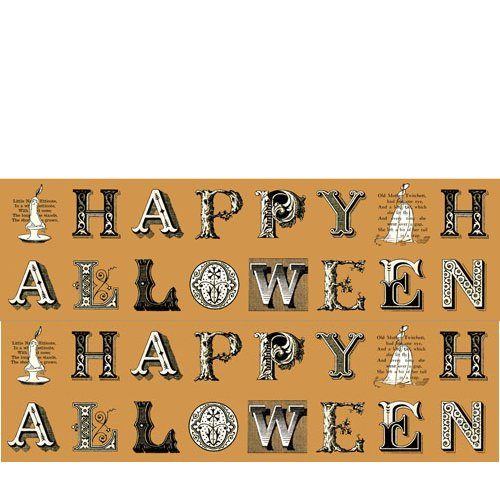 Quilting Treasures Halloween Fabric (Quilting Treasures 'Sew Scary' Pumpkin Greetings Patch Panel Halloween Cotton)