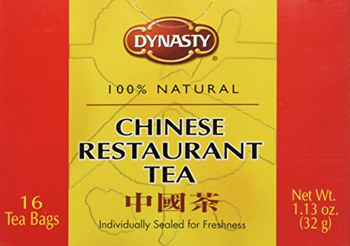 Dynasty 100% Natural Chinese Restaurant Tea Net Weight 1.13 oz. (32g) pack of 16 teabags
