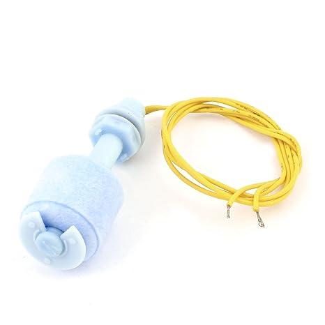 sourcingmap® 25mm PP Interruptor de Flotador Sensor de nivel de agua líquida Vertical para peces