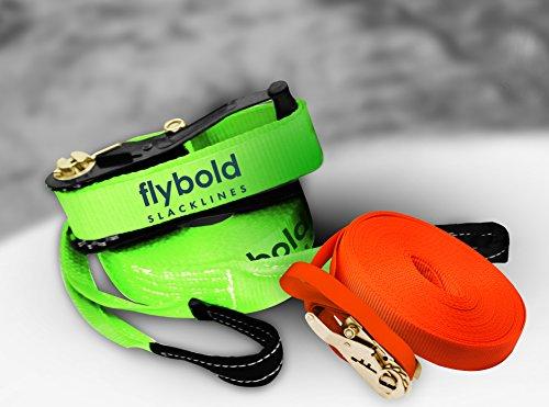 Slackline Kit Slack Line Longer 57 ft Line with Training Line Tree Protectors Arm Trainer Ratchet Cover and Carry Bag…