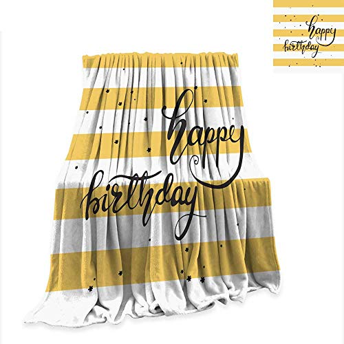 (Anniutwo Throw Blanket Greeting Card Design with Lettering Happy Birthday Vector Illustration 60