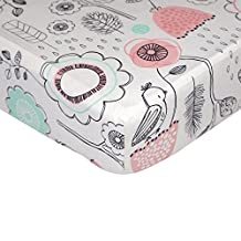 Lolli Living Sparrow Fitted Sheet, Sparrow Print