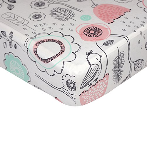 Lolli-Living-Sparrow-Fitted-Sheet--Sparrow-Print--100-Cotton-Sheet-Fully-Elasticized-With-Extra-Deep-Corners-For-Secure-Fit-Gentle-On-Baby-Skin