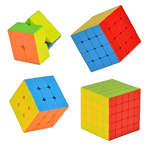 MiL Stickerless Cube Puzzle Bundle Pack Speed Cube Standard