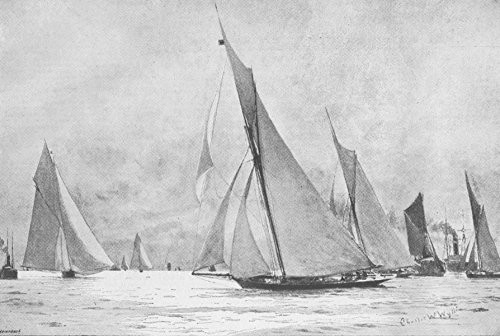 LONDON. Royal Thames Yacht Club race - 1892 - old antique vintage print - engraving art picture prints of London Ships - The Graphic ()
