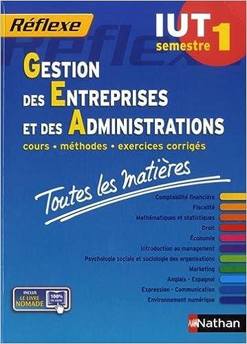 En ligne téléchargement gratuit Toutes les matières IUT Gestion des entreprises et des administrations - Semestre 1 pdf