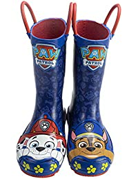Toddler Rainboots,Marshall and Chase Mismatch Rainboots with Handles,100% Rubber,Navy,Toddler Size 5 to Toddler Size 10