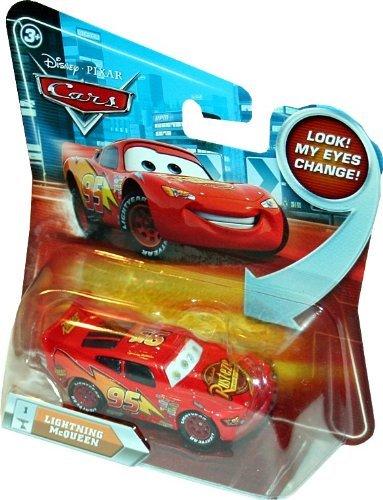 LIGHTNING MCQUEEN #1 w/ Lenticular Eyes Disney / Pixar CARS 1:55 Scale Die-Cast Vehicle