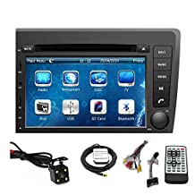 TLTek 7 inch Touch Screen Car GPS Navigation System For Volvo S60/V70 2001-2004 DVD Player+Backup Camera+North America Map
