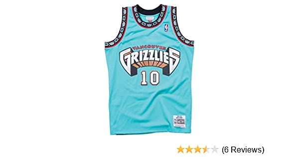 huge selection of bbaf3 ea45e Mitchell & Ness Mike Bibby Vancouver Grizzlies NBA Throwback Jersey Teal