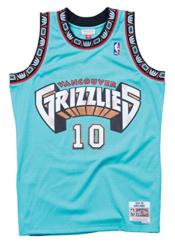 Mike Bibby Memphis Grizzlies Mitchell and Ness Men's Teal Throwback Jesey Large