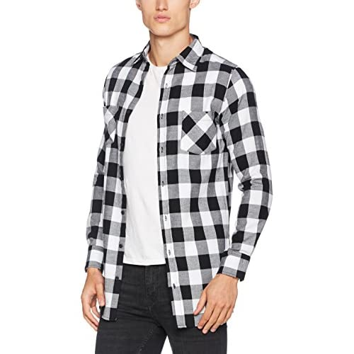 best Urban Classics Side-Zip Long Checked Flanell Shirt 81d16980996