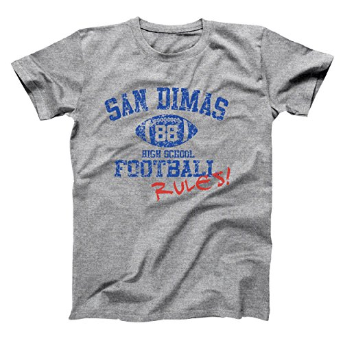 San Dimas High School Funny Excellent Adventure Football Cool Retro Radical Old School Mens Shirt Large Gray