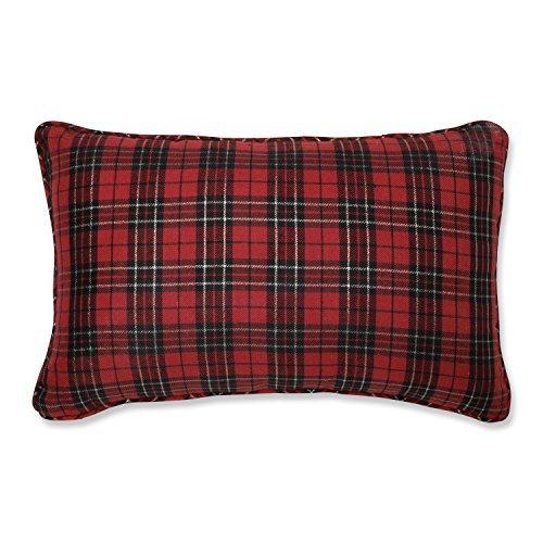 Holiday Plaid Red Rectangular Throw Pillow [並行輸入品] B07RBCQ7SF