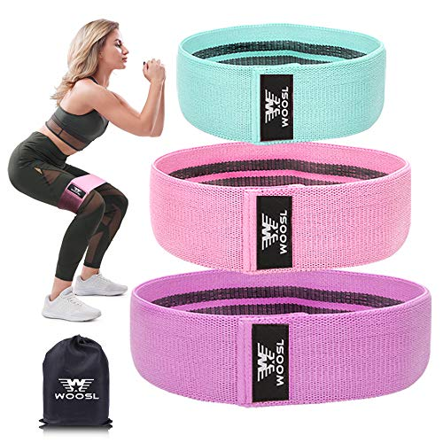 WOOSL Resistance Bands Legs Butt, Exercise Bands Resistance Band Hip Bands Wide Booty Bands Workout Bands Sports Fitness Bands Stretch Resistance Loops Band Anti Slip Elastic (2019 Upgrade)
