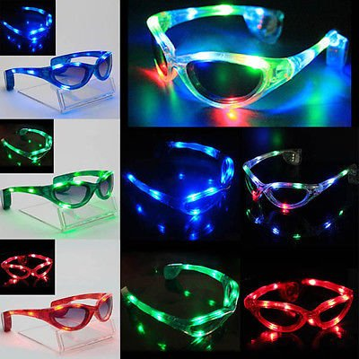 12 Pairs of LED UFO Spaceman Flashing Light Up Party - Maker Sunglasses