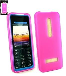 Emartbuy® Nokia 301 Protector De Pantalla Y Frosted Patrón Piel Del Gel De La Cubierta De Las Rosas Fuertes