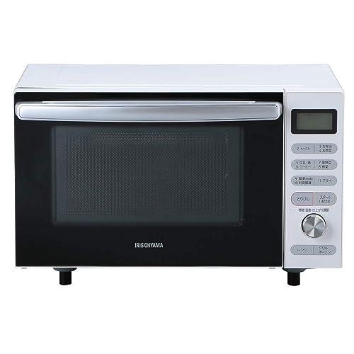 アイリスオーヤマ オーブンレンジ 18L フラットテーブル ヘルツフリー 自動メニュー トースト グリル 発酵モード ホワイト MO-F1805-W