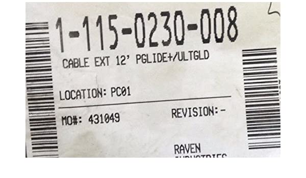 Raven 115-0230-008 Cable EXT 12 PGLIDE+//ULTGLD.