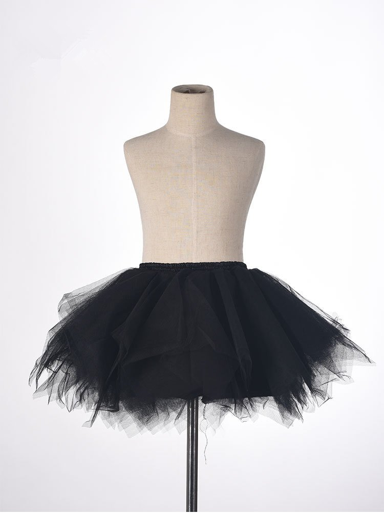 Big Girls Tutu Skirts Layered Tulle Princess Dresses Sparkle Halloween Tutu Black by BIFINI (Image #2)