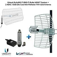 Ubiquiti BulletM2-Ti BM2-Ti Bullet M2HP Titanium + 2.4GHz 15dBi Grid Antenna