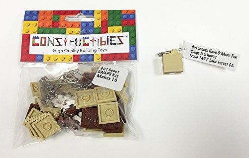 Constructibles Girl Scout Swaps Kit   10 Lego Smores Swaps