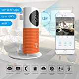 Clever Dog 2nd Generation 960P 120°Wide Angle Lens Wireless security wifi camera Support Max 128GB SD card / Support Cloud Stotage(with adaptor)(Orange)
