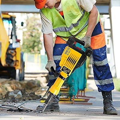MD Group HD 3600Watt Electric Demolition Concrete Jack Breaker w/Case