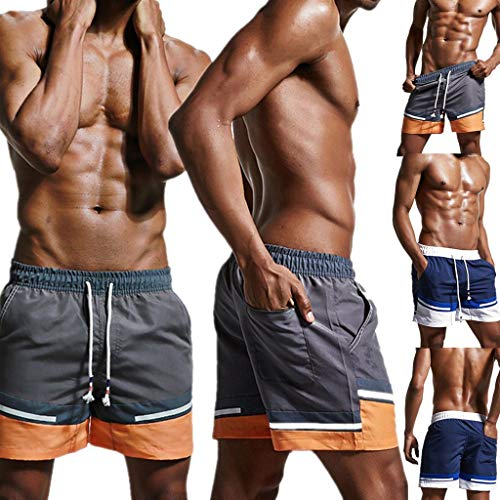 Sonnena Séchage De Homme Élastique Réglable Rapide Plage Natation Bleu Cordon Bermuda Garçons Short Jogging Tailles Court Bain Sport Avec Casual qnSqwFrR